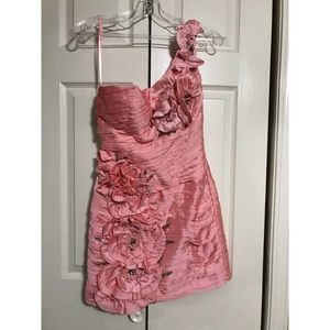 Pink mini formal dress. Size 4. Worn once.